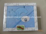 ギフト用の箱の100%年の綿の赤ん坊のフード付きタオル