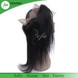 Prix de gros de l'homme brésilien Remy Hair 360 pour le noir Womem frontale