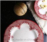 Christamas rouge jeux de vaisselle de vaisselle de cuisine de 2 parties