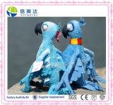 파란 견면 벨벳 장난감과 보석 앵무새 새 높은 28 Cm를 서 있는 아이 선물 장난감을%s 카나리아 빛 견면 벨벳 장난감