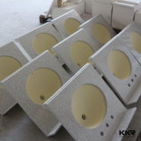Dessus extérieur solide acrylique de vanité de Corian pour la salle de bains 062304