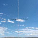 Стальным башня провода Guyed гальванизированная рангоутом