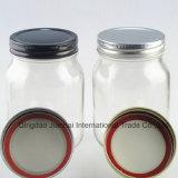 470ml machen runde Glasnahrungsmittelspeicher-Oberflächenflasche glatt