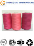 Hilo de coser del poliester de la cuerda de rosca de la tela para 40s/2 5000 yardas