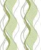 Papier peint 3D lavable en PVC à rayures moderne avec bordure