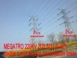 Doppia torretta della trasmissione di tensionamento del circuito di Megatro 220kv 2D3 Sdj