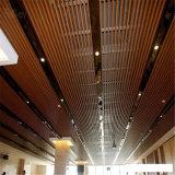 Plafond composé en plastique en bois léger intense, panneau de plafond moderne d'intérieur de WPC