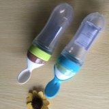 Venda por grosso sem BPA passíveis de Biberão de silicone com a colher