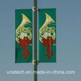 旗アームシステム(BT87)を広告する金属の通りのポスト