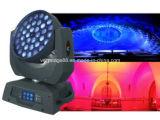 36 * 15W RGBWA + UV 6 pulgadas 1 Wash LED zoom de cabeza móvil