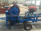 Steinfelsen Cushering Pflanze, mobile Kiefer-Zerkleinerungsmaschine für Verkauf