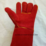 14' красного сварки кожаные перчатки