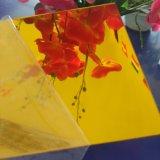 Folha acrílica da folha 1mm 1.8mm do espelho de prata