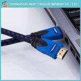 고속 2160p 1.5m 2.0 이더네트를 가진 3D 4K 텔레비젼 상자 HDMI 케이블