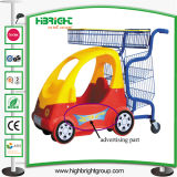 Supermarkt-Plastikbaby scherzt Kind-kaufenlaufkatze