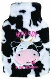 Coperchio sveglio della peluche delle mucche da latte per la bottiglia di acqua calda
