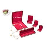 Personalizada Rojo Retro regalo joyeria deformar la caja de embalaje de papel de cuero