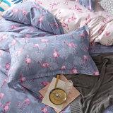 高品質のさまざまなデザインはポリエステル敷布の寝具セットを印刷した