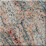Pavimento de piedra de la losa de Wholeslae Azulejo del granito de Juparana de la India