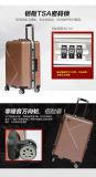 """アルミニウムカバートロリー荷物20 """" /24の"""" /28の""""旅行荷物のスーツケース"""