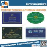 顧客用いろいろな種類のマットレスのラベル、刺繍されたマットレスのハンドルのマットレスの札、保証のカード、フィートの監視、マットレスのペーパーコーナーおよびそう