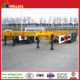 Phillaya 3 Semi Aanhangwagen van de Container van de As de Skeletachtige/de Aanhangwagen van de Container