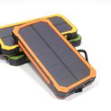 cargador de batería solar, Hallomall 15000 mAh cargador de teléfono portátil con 6LED Linterna, de doble puerto USB cargador de batería externo del Banco de Energía Solar para teléfonos inteligentes