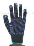 Перчатки хлопка работы безопасности двойной работы многоточий PVC защитные