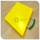 노란 색깔 트럭 기중기 사각 패드 /Ground 아우트리거 패드 공장 가격