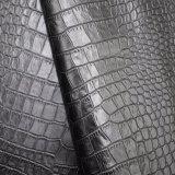 動物のワニの皮総合的なPUののどは袋の靴革を模倣する
