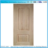 Piel moldeada de la puerta de HDF con el grano de madera horizontal y vertical