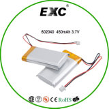 卸し売りRechargeable Batteries 602040 3.7V 420mAh Lithium Polymer Battery