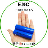 Imr18650 3100mAh 3.7V 40A hoher Abfluss-nachladbare Batterie