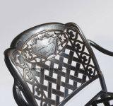 의자 (YTA916&YTD919)를 가진 옥외 정원 가구 장방형 주조 알루미늄 테이블