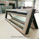 Alumínio revestido de madeira de carvalho vermelho Empurre para fora da janela Casement