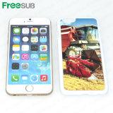 Sublimação 2D em branco caso telefone celular com folha de metal de alumínio para iPhone 6