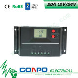 20A, 12V/24V, LCD Slim ZonneControlemechanisme