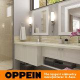 Самомоднейшая белая тщета шкафа ванной комнаты дрессера зеркала двойника лака