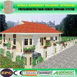 Prefab modular/casa móvel do recipiente do bloco liso para a família do escritório do dormitório