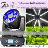 Dois 6X25W LED do feixe de iluminação do Cabeçote Móvel com embalagem Flight-Case