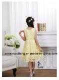 ウエストの装飾が付いている多彩な袖なしの女の子の夏の服の子供の衣服