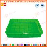 Cadre végétal de conteneur de panier d'étalage de supermarché en plastique (ZHtb29)