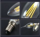 Cer RoHS E14/E27 3W 4W 5W Filament LED Candle Bulb Light