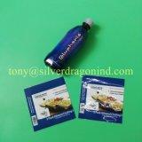 Selbstklebender Neonkennsatz, Wärmeshrink-Kennsatz für Mineralwasser-Flasche