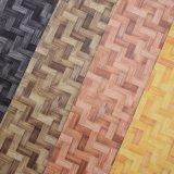 Cuero artificial del bolso del PVC de la textura de la estera de la paja de la cesta de Petate