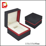 Alta calidad Black Paper Cardboard Mens Watch Box con Pillow