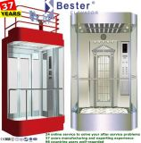 Casa de passageiros elevador com um serviço profissional na área residencial/vista panorâmica do Prédio de negócios
