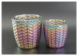 Fabrik liefern direkt bunte Ionenüberzug-Glas-Kerze-Halter