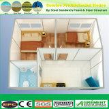 構築EPSのグラスウールのRockwoolの速いガラス繊維のプレハブのプレハブの木の家