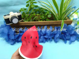 Peça de fatia de melancia PU Squishy subida lenta suave aroma de brinquedos